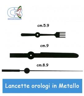 Lancette  in metallo per  meccanismo orologio da parete