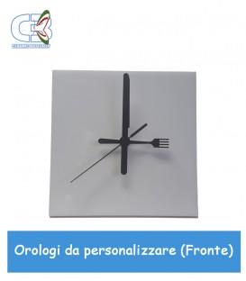 Orologio in ceramica quadrato 20x20cm, parete e tavolo da personalizzare