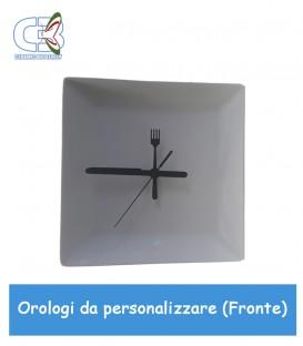 Orologio in ceramica quadrato 24x24cm, parete e tavolo da personalizzare