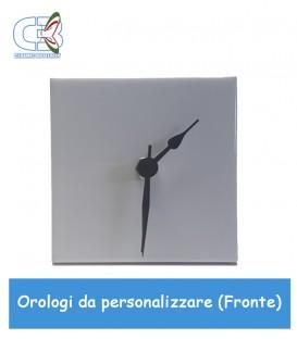 Orologio in ceramica quadrato 10x10cm, parete e tavolo da personalizzare