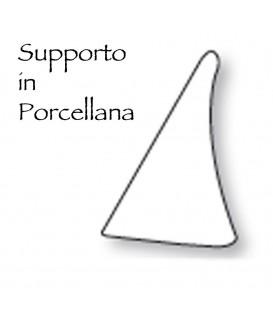 Supporto porcellana serie Papiro altezza cm.8