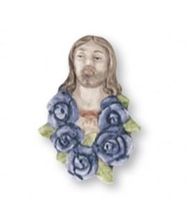 Cristo rose Indaco 6x8 cm