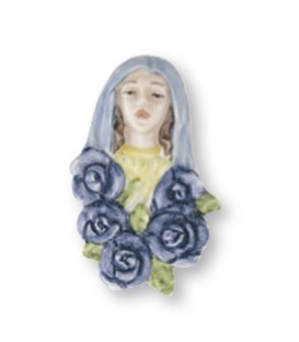 Madonna rose Indaco 6x8 cm