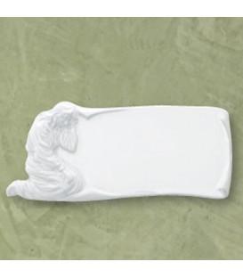 Targa Madonna bianca 11x25 cm