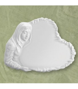Targa Madonna bianca 27x37 cm