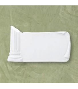 Targa colonna bianca 12x22 cm