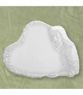 Targa Cristo bianca 27x37 cm