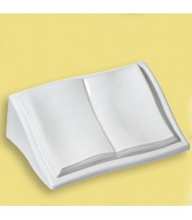 Libro a terreno con leggio cm.11x22x33 b.co