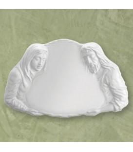 Targa Pietà bianca 27x42 cm