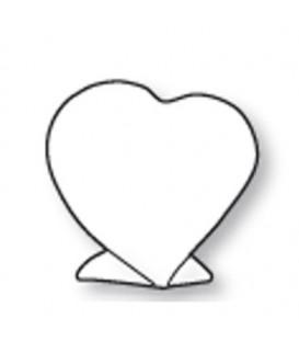Segnaposto cuore sx.cm.7x8x5 c/piede