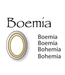 Decalcomania doppio filo oro Boemia 11x14