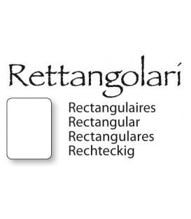 Placche rettangolari in vetro sagomato 13x18 cm