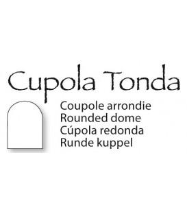 Placca cupola tonda 40x60cm per fotoceramica funeraria