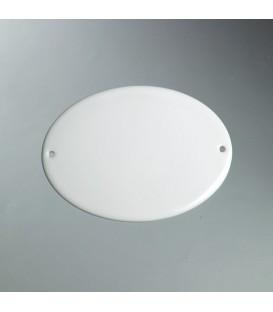 Targhetta ovale c/fori 12x9