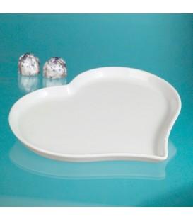 Piatti Cuore, 21x18cm in ceramica