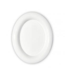 Placca cornice ovale cm.11x15 con bordo bianco