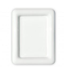 Placca cornice rettangolare cm.9x12 con bordo bianco