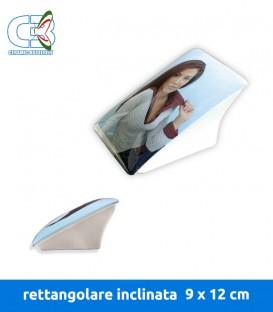 Placca 9x12 rettangolare inclinata