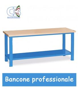 Banco da lavoro professionale in ferro base legno