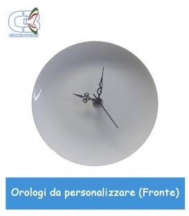 Orologio in ceramica bianca, parete e tavolo da personalizzare