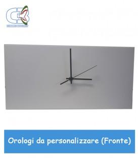 Orologio in ceramica rettangolare 20x40cm, parete e tavolo da personalizzare