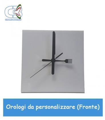 09fc5c2a92 ... Orologio in ceramica quadrato 20x20cm, parete e tavolo da personalizzare