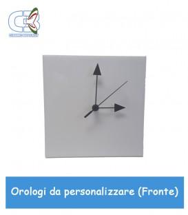 Orologio quadrato in ceramica bianca, parete e tavolo da personalizzare