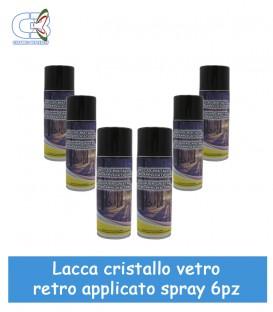 Lacca per Cristalli retroapplicati Trasparente Spray Conf. 6 Pz