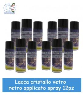 Lacca per Cristalli retroapplicati Trasparente Spray Conf. 12 Pz