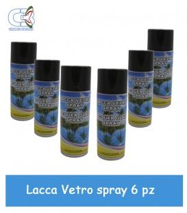 Lacca per Vetro Spray 400 ml Trasparente Conf. 6 Pz