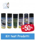 kit bombolette spray per test prodotti