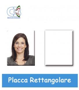 Placca rettangolare spessa c/fori non pass.cm.7x9