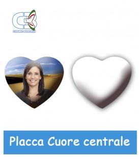 Placca cuore centrale cm.17