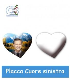 Placca cuore sx cm.6x7