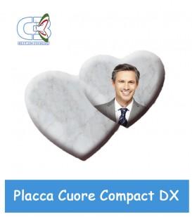 Placca cuore Compact destra cm.30x26