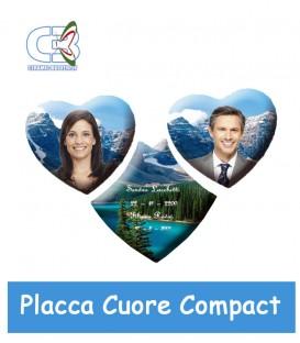 Placca cuore Compact c/2 cuori cm.28x18