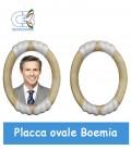 Placca ovale Boemia 21x25cm per fotoceramica funeraria