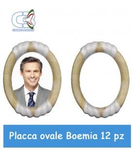 Placca ovale Boemia 9x11cm (Conf. 12Pz) per fotoceramica funeraria