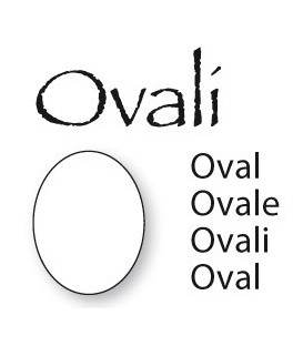 Placca ovale 19x25mm per miniatura