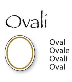 Decalcomania filo oro ovale cm. 11x15
