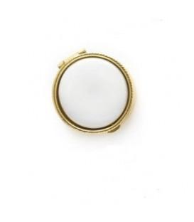 Portapillole tondo color oro+placchetta 26 mm. , per Fotoceramica.