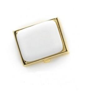 Portapillole 2 scomparti oro+placchetta 25x35 mm, per Fotoceramica