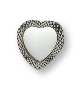 Calamita metallo cuore+miniatura cuore 15 mm.