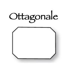 Placca ottagonale x numeri civici cm.20,5x14,5