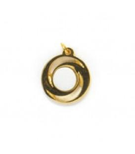 Ciondolo oro +1 miniatura diam. 10 mm.