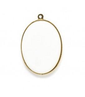 Cornice dorata Filetto per min.ovale mm.18x24 c/placca